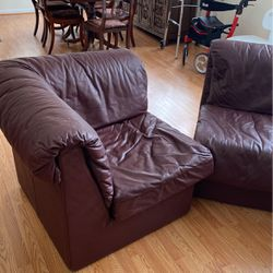 Leather Sectional Furniture - Three Pieces - Cash and Carry for Sale in Waltham,  MA