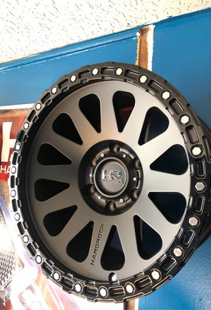 Rims rines wheels tires llantas big inventory available for Toyota ram for Chevy Jeep Wrangler rubicon ford for Sale in San Jacinto, CA
