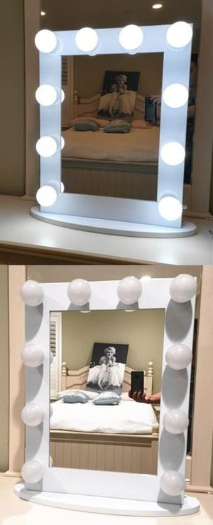 Hollywood Style Makeup Vanity Mirror with 10 LED Light Bulbs Dual USB Outlets for Sale in Rancho Cucamonga, CA