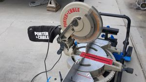 Porter cable 10 miter saw with delta folding contractors stand for Sale in Salida, CA