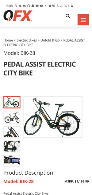 New Electric Bike! for Sale in Stockton, CA