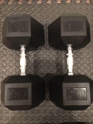 One pair new Rubber Hex dumbbells $310 for Sale in Phoenix, AZ