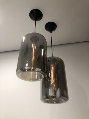 2 glass pendent lighting fixture chandelier for Sale in Los Angeles, CA