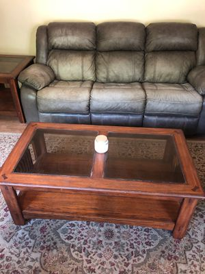 Ashley Leather Reclining Living Room Group for Sale in Wichita, KS