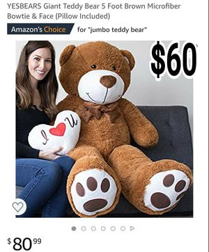 Giant teddy bear for Sale in Boston, MA