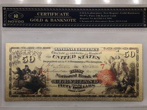 RARE 24kt Gold Certified Bank Notes for Sale in Saginaw, TX