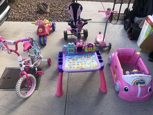 Kids and Toddler Toys Bike activity table scooter smart trike for Sale in Goodyear, AZ