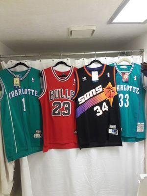 Jerseys NBA adidas nike Mitchell and Ness vintage lakers Jordan Chicago baseball for Sale in Phoenix, AZ