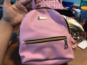 Faux leather pink Mini backpack/ purse for Sale in BVL, FL
