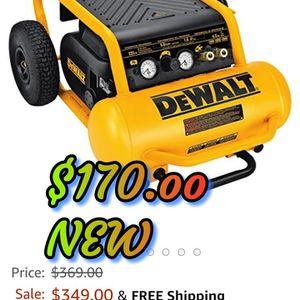 Dewalt HEAVY-DUTY 225 PSI MAX, 4.5 GALLON ELECTRIC PORTABLE COMPRESSOR for Sale in Vancouver, WA