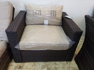 Brand new outdoor patio furniture club chair tax included delivery available for Sale in Hayward, CA