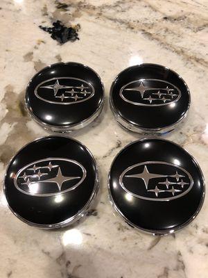 Subaru Impreza WRX STI Forester Outback 60mm Black Center Caps Wheel Rim Cap BRZ for Sale in Scottsdale, AZ