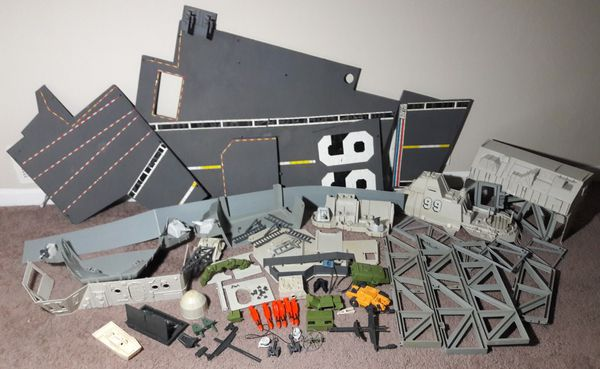 1985 Gi Joe USS Flagg Vintage Aircraft Carrier Battle Ship Playset 80s toy