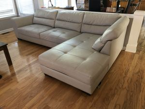 White leather couch for Sale in Cumming, GA