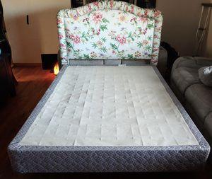 Beautiful Upholstered Queen Bed Frame Set for Sale in Denver, CO