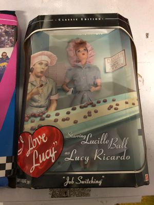 I love Lucy and nascar Barbie new in box $20 each for Sale in McKinney, TX