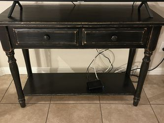 Rustic black 2 drawer buffet/entry table/sofa table/TV Stand for Sale in Las Vegas,  NV