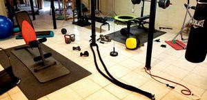 Asst. Exercise equipment. Benchs, heavy bag, bowflex for Sale in Decatur, GA