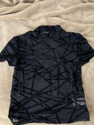 BLACK VELVET DESIGN MESH TOP for Sale in Tampa, FL