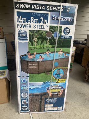 Bestway 14ft Power Steel Swim Vista Pool for Sale in Hicksville, NY