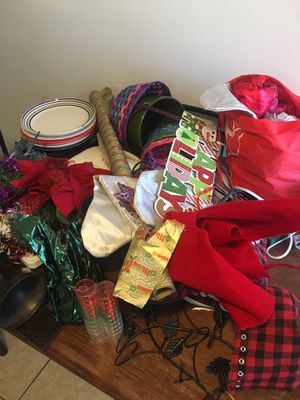 Free free free !!!! Christmas decor,pots,pans,Christmas tree,plates for Sale in Los Angeles, CA