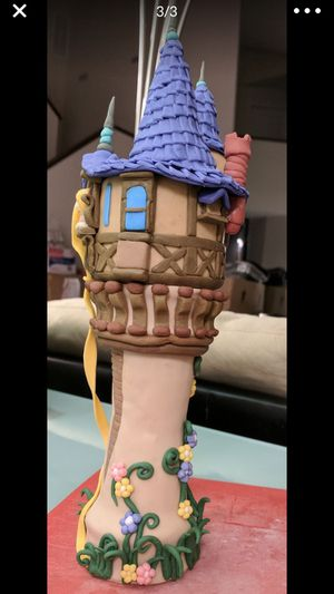 Rapunzel Tangled Fondant Tower Cake Topper for Sale in Chicago, IL
