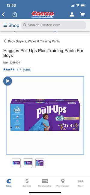 Huggies pull ups 3-4 training pants for boys 7 bags for Sale in Suwanee, GA