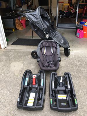 Baby Jogger Stroller, Car Seat, Bases, $225 for Sale in Greensboro, NC