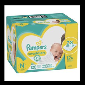Newborn Diapers 120 Box for Sale in Los Angeles, CA