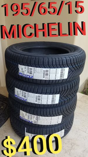 195/65/15 Michelin tires set 195-65-15 for Sale in Los Angeles, CA