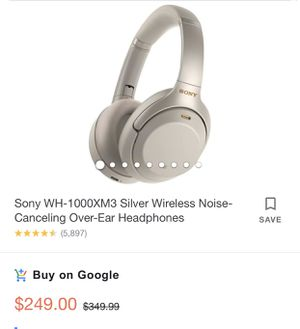 Sony WH-1000XM3 Silver headphones for Sale in Huntington Beach, CA