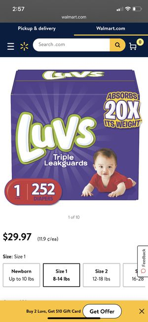 Brand new in the box size 1 diapers 252 $25 for Sale in Forestville, MD
