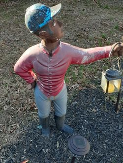 Lawn Jockey Cast Iron Antique Large for Sale in Occoquan Historic District,  VA