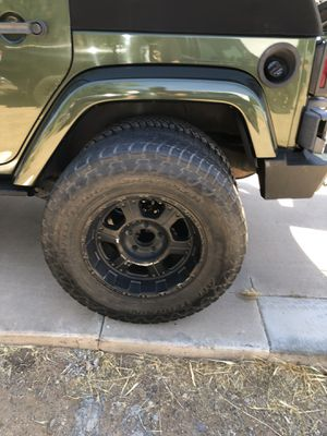 Jeep Wrangler wheels and tires set of 5 for Sale in Avondale, AZ