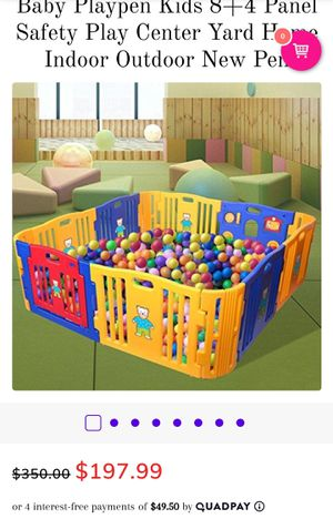 Baby Playpen panel safety play center yard for Sale in Fairfax, VA