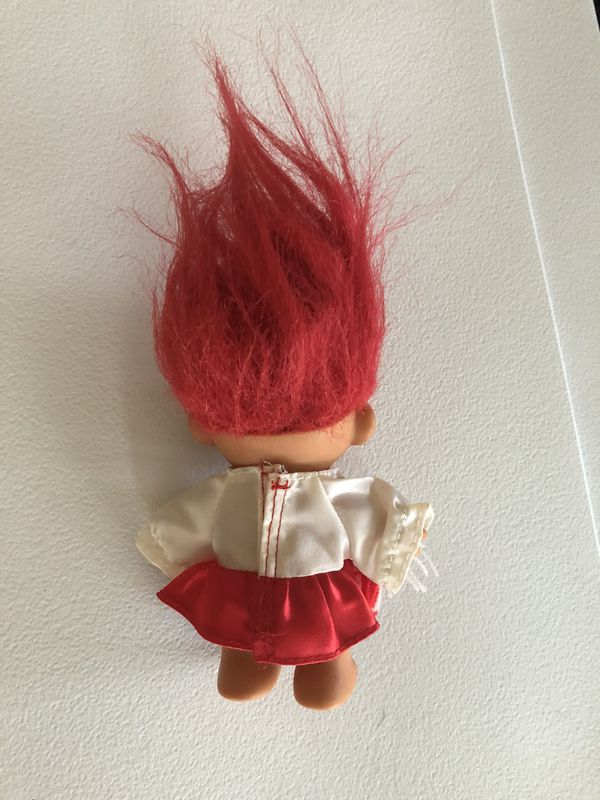 """CHEERLEADER - 5"""" Russ Troll Doll - Red and White Uniform"""