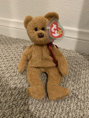 "Ty beanie baby bear ""curly"" for Sale in Menifee, CA"