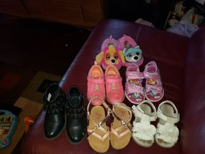 Toddler girls size 7 and 8 shoes for Sale in Midwest City, OK