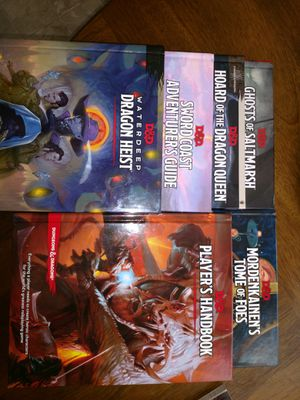 Dungeons and dragons. 5e books for Sale in Norfolk, VA