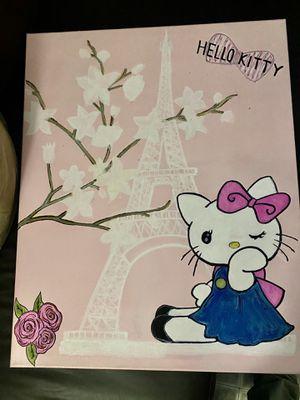Hello Kitty canvas 24x30 for Sale in Vista, CA
