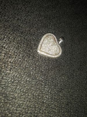 Iced out small Heart pendant 925 silver for Sale in Redford Charter Township, MI
