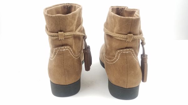 Zoe & Zac Youth Kids Childrens Girls Ankle Boots Size 2 Brown Tassel Slip On