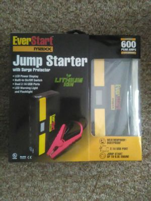 BRAND NEW EVERSTART 600 JUMP START WITH UNIVERSAL LAPTOP CHARGER & USB POWER BANK for Sale in Snellville, GA