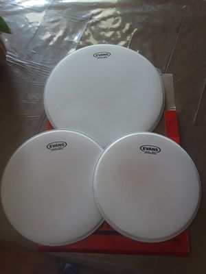 Barely used drum heads set for Sale in Humble, TX