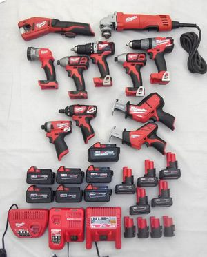 Milwaukee M18 & M12 Power Tools for Sale in Tacoma, WA