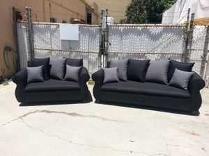 NEW DOMINO BLACK FABRIC COUCHES for Sale in San Diego, CA