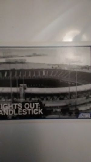 Candlestick arena, 1989 5:04pm baseball card for Sale in South San Francisco, CA