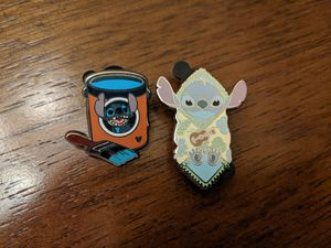 Disney stitch pins-group of 2 pins for Sale in Glendale, AZ
