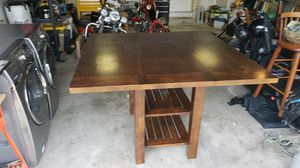 Large table with leaf and chairs for Sale in Cheyenne, WY