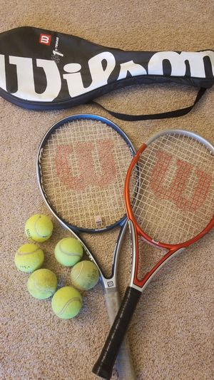 Tennis racket and tennis balls for Sale in Livonia, MI